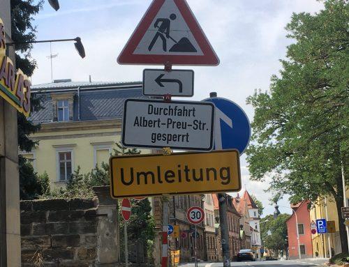 Baustelle in der Albert-Preu-Straße